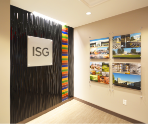 I + S Group Office Feature Wall