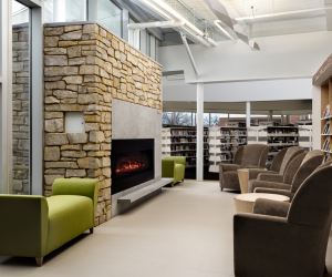 City of Viroqua Mcintosh Memorial Library Fireplace/Lounge