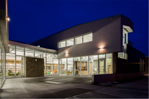 City of Viroqua Mcintosh Memorial Library Nighttime Exterior