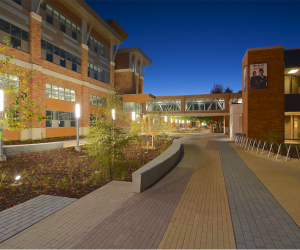 WTC La Crosse Campus Site Improvements - Nighttime Courtyard