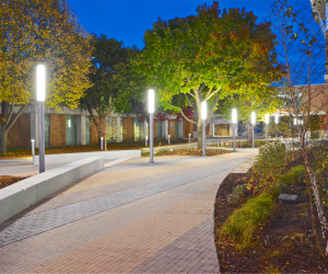 WTC La Crosse Campus Site Improvements - Nighttime Courtyard 2