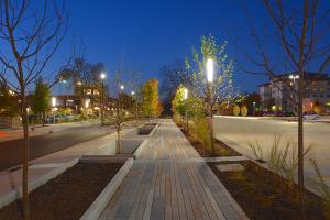 WTC La Crosse Campus Site Improvements - Nighttime Courtyard 3