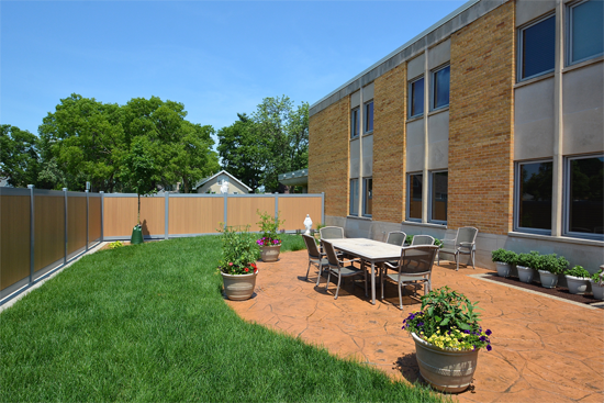 MMOC PARISH HALL ADDITION & REMODEL COURTYARD